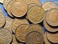 1947 CANADIAN SMALL CENTS KING GEORGE VI        BUY ONE OR BUY THEM ALL