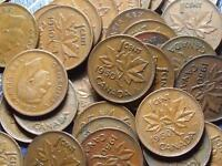 1950 CANADIAN SMALL CENTS KING GEORGE VI        BUY ONE OR BUY THEM ALL