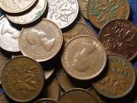 1957 CANADIAN SMALL CENTS QUEEN ELIZABETH II       BUY ONE OR BUY THEM ALL