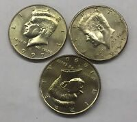 1995 P 1997 D 1998 P UNCIRCULATED KENNEDY HALF DOLLAR 3 COIN LOT