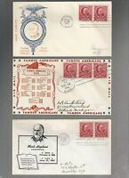 US FDC  870 MARK HOPKINS  FAMOUS AMERICANS 1940    LOT OF 9