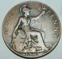 ONE PENNY 1913 ROI GEORGES V ANGLETERRE