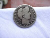 1894 GOOD CONDITION LOW MINTAGE BARBER HALF DOLLAR