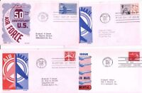4 AIRMAIL FIRST DAY COVERS, 1950S, '60S