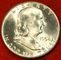 1954 D FRANKLIN  HALF DOLLAR BU BEAUTIFUL COIN CHECK OUT STORE FH257