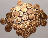 1957 P LINCOLN WHEAT PENNY ROLL OF 50 UNC COINS