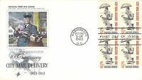 1963 CITY MAIL DELI HAND COLORED ART CRAFT FIRST DAY COVER