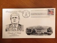 TRUMP EMBOSSED FIRST DAY COVER WASHINGTON D.C. INAUGURAL POSTMARK 1/20/2017 3