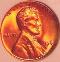 1956 D LINCOLN WHEAT CENT..ANACS MS 67 RD..GORGEOUS  SALE 50OFF  REDUCED 1/14