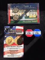 2 SEALED TUBES OF 2008 PD JOHN QUINCY ADAMS PRESIDENTIAL DOLLARS | ICG MINT STATE 63