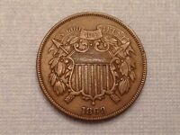 -UNITED STATES  1869 TWO 2 CENTS