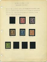 US MINT 1908 BLUISH PAPERS ARRANGED ON AN EARLY ALBUM PAGE CAT $79,000