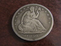 1859 SEATED LIBERTY HALF   FULL DATE PARTIAL LIBERTY FULL RIMS H345