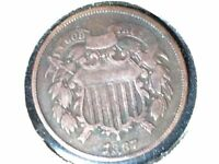 1867 2C TWO CENT PIECE  COIN PICTURED IS COIN RECEIVED SHIPS FREE