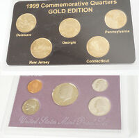 1990 UNITED STATES MINT PROOF SET GOLD EDITION 1999 QUARTERS SET
