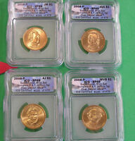 L-TOO: 2008-P PRESIDENTIAL DOLLARS { SET OF 4 } ICG SATIN FINISH 69  MATCHED NUMBERS