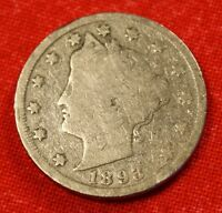 1893 LIBERTY V NICKEL G  DATE BEAUTIFUL COLLECTOR COIN GIFT LN307
