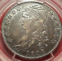 PCGS XF45 1808/7 CAPPED BUST HALF DOLLAR NEAT 50C OVERDATE VARIETY