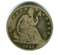 1843 LIBERTY SEATED HALF DOLLAR