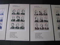 US STAMP SOUVENIR SHEET SET SCOTT  2216-2219 NEVER HINGED CATALOG VALUE $ 45.