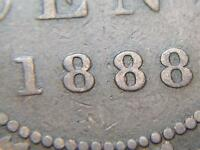 1888 BEAD PUNCHED MIDDLE 8 VARIETY CANADIAN LARGE PENNY QUEEN VICTORIA LOT BX36