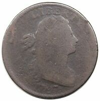 1797 DRAPED BUST LARGE CENT, STEMLESS WREATH, S-131, LDS, G