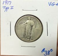 1917 STANDING LIBERTY TYPE I QUARTER