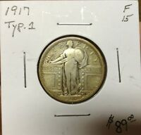 1917 STANDING LIBERTY QUARTER TYPE I