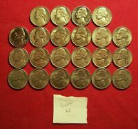 LOT OF 22 XF AU JEFFERSON NICKELS 1963 1995 PDS. NO DUPLICATES. LOT H
