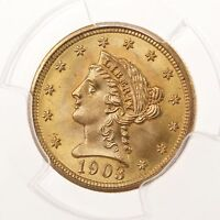 1903 LIBERTY HEAD $2.50 PCGS CERTIFIED MS67 67 GRADED US MINT QUARTER EAGLE GOLD