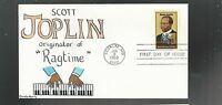 US FDC FIRST DAY COVER   2044 SCOTT JOPLIN MUSIC 1983  HAND PAINTED C MURRY