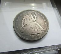 1846 TALL DATE 50C SEATED HALF DOLLAR G/VG    DECENT EXAMPLE