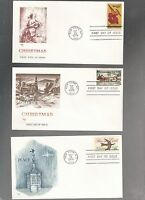 US FDC  FIRST DAY COVER  1550 1551 1552 CHRISTMAS 1974 LOT OF  3 BY MARQ