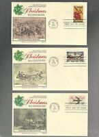 US FDC  FIRST DAY COVER  1550 1551 1552 CHRISTMAS 1974 LOT OF  3 BY FLEETWOOD