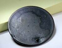 1797 LARGE CENT S-128 R-3 LARGE CENT W/HOLE IN DATE,  , ROUGH SHAPE F/S