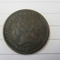 1881 H LARGE CENT CANADA COIN