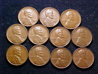 1934 1939DS LINCOLN CENTS; LY FINE; 11 DIFFERENT PIECES