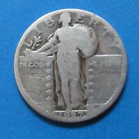 1927 25C STANDING LIBERTY QUARTER - 90 SILVER