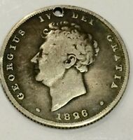 1826 GEORGE IV SHILLING SILVER COIN