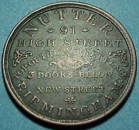 BRITISH TOKEN   1830   NUTTER   HIGH STREET BIRMINGHAM TEA COFFEE TOKEN