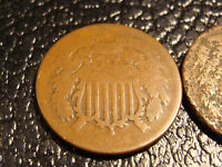 PAIR OF 2 CENT PIECES 1866 AND 1864?  WE COMBINE ON SHIPPING
