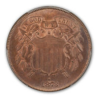 1873 2C OPEN 3 TWO CENT PIECE PCGS PR66RB
