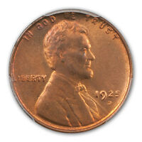 1925-D 1C LINCOLN CENT - TYPE 1 WHEAT REVERSE PCGS MINT STATE 66RB