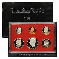 1981 S PROOF SET UNITED STATES US MINT ORIGINAL GOVERNMENT PACKAGING BOX SBA $