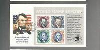 US FDC FIRST DAY COVER   2433 WORLD STAMP EXPO MINI SHEET 1989  BY FLEETWOOD