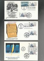 US FDC 1983 FIRST DAY COVER   2036  SWEDEN  JOINT  CANCEL COMBO LOT OF 3