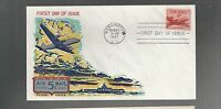 US FDC  FIRST DAY COVER  C33  AIR MAIL 5 CENTS  1947  BY FLUEGEL