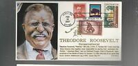 US FDC MASONIC BY EDSEL  THEODORE ROOSEVELT CONSERVATIONIST COMBO 2001