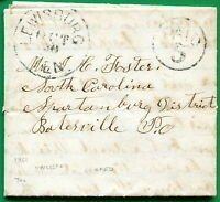 CSA. 1861 LEWISBURG, TENNESSEE, FOLDED LETTER TO BATESVILLE, SO. CAROLINA