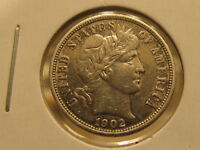 AU 1902 O BARBER DIME  BEAUTIFUL COIN  CPCH